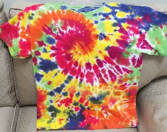Classic rainbow Adult Small Spiral Tie Dye.