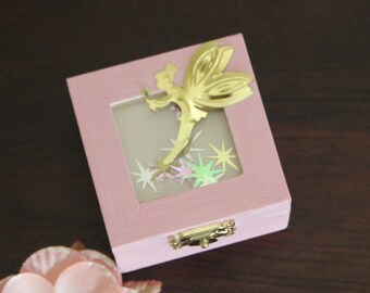 Pink Tooth Fairy Box! Fairy box, jewelry box, girls keepsake box, gift box