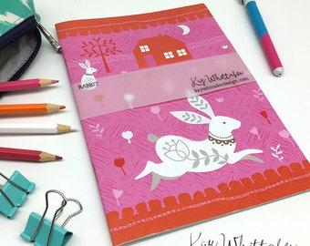 Folk Rabbit A5 Notebook Sketchbook Journal