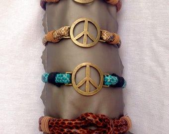 Bracelet peace symbol.