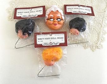 vintage doll head picks rubber doll heads picks doll crafting