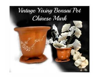 Bonsai pot - Terracotta pots - flower pot with saucer - Chinese flower pot - indoor pot planter - gifts for gardeners  # 26