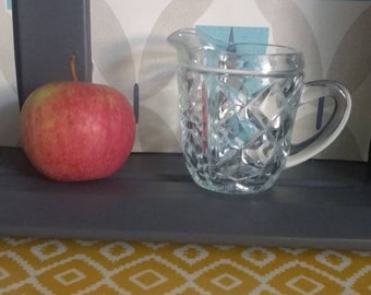 Small glass cream jug