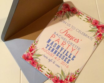 Bachlorette Party Invitations