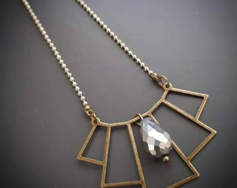 Art deco inspired necklace