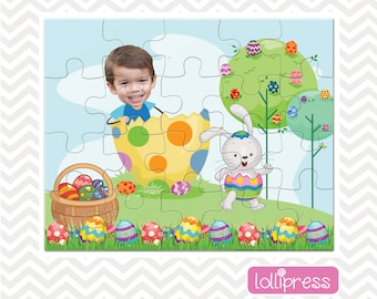 Easter Jigsaw Puzzle, Easter Basket Stuffer, Easter Gift for Kids, Easter Basket Gift, Jigsaw Photo Puzzle, Gift for Kids, Personalized Gift