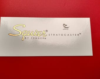 Custom Squier by Fender Protone Waterslide Decal, Two included with each order.
