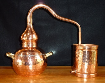 Copper Alembic Still 1.5 Liter for Home Gardens