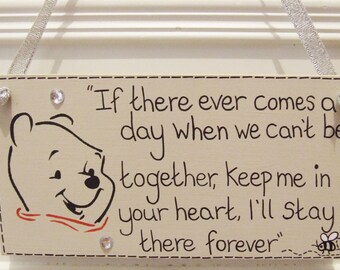 Handmade Personalised Disney Winnie the Pooh Quote Shabby Chic Plaque Bedroom Sign Hanging Door Plaque Sign Home Gift