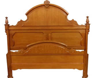 Lexington Furniture King Victorian Mansion Bed, Oak, Victorian Sampler Collection, 73.5″H, PA5068TJ, SHIPPING NOT FREE!!!