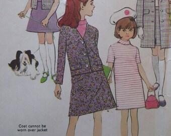 Vintage cut 1966 McCalls girls sz 7 separates...coat, jacket, vest, skirt, dress and blouse pattern 8593