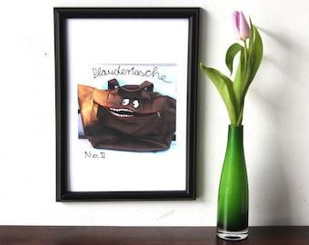 Art Print, Art-Poster, digital-painting, illustration chatterbox, gift funny, posters Office, Digital wall art, photo gifts, German graffiti