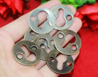 "10 Photo Frame Hang – Round Iron Bronze Curtain Hangers Paint Picture Frame Back Supplies 1""(25mm) - ho48"