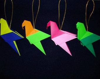 Origami Parrots - Set of 4