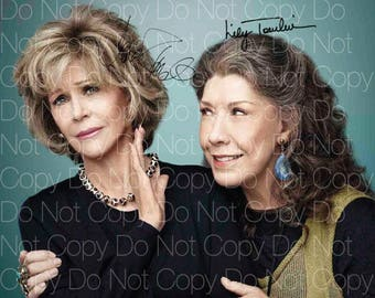 Grace and Frankie signed Lily Tomlin Jane Fonda 8X10 photo picture poster autograph RP