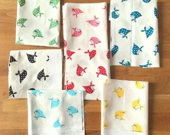 Japanese Fabric Kerchief Girls - fat quarter bundle