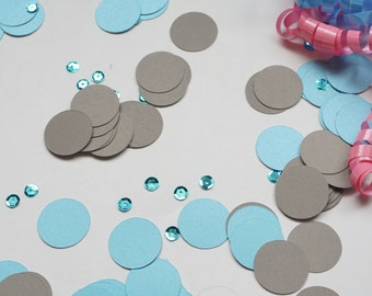 Dark Grey Confetti, Baby Shower Decor, Dark Gray Circle Confetti, Party Decorations, Party Decor, Wedding Decor, Birthday Party