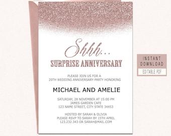 Anniversary invites Etsy