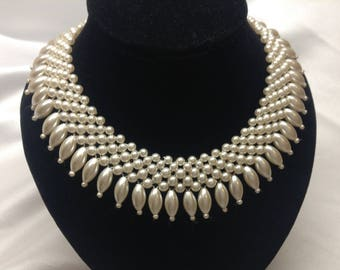 Vintage Pearl Necklace, 1950s Pearl Necklace, 1950s/60s Glamour Necklace, Rockabilly