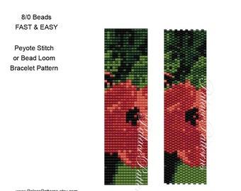 Beadweaving Bracelet Pattern 8Bead 70 - Size 8/0 Seed Bead Bracelet Pattern - Peyote Stitch Bracelet and Bead Loom Bracelet - Fast and Easy