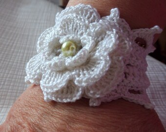 white cuff style bracelet for wedding