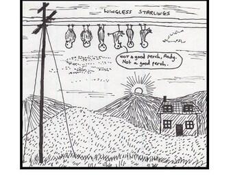 Wingless Starlings Greeting Card