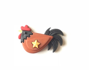 Red Hen Needle Minder, Chicken Needle Minder, Needle Nanny, Needle Keeper, Rooster Needle Minder, Americana, Country Hen, Needle Point, Tool