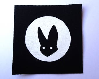 Hand Painted Animal Patches - Sew On Punk Patch - Bat