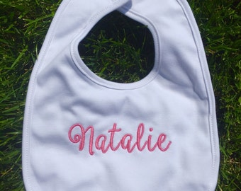 Monogram baby bib, monogrammed baby bib, bib with name, bib with monogram, personalized bib, monogram bib, monogrammed bib, baby gift idea