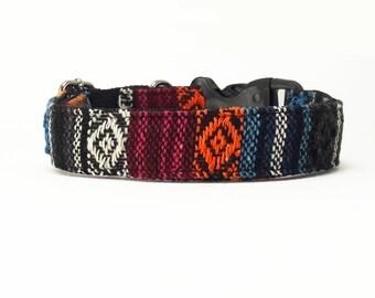 Black Blue Orange Pink Tribal Boho Bohemian Aztec Navajo Dog Collar, Dog Collar, Dog Collars for girls, Dog Collars for boys, summer spring