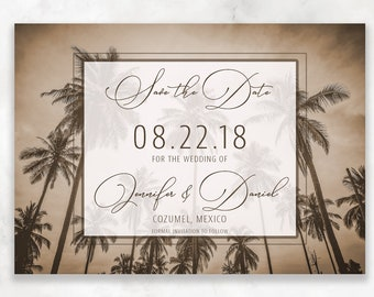 Tropical Save the Date Cards, Destination Save the Date Cards