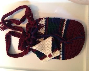 Bag, tote, handbag, crochet, women, girls