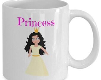 LATINA PRINCESS Coffee Mug - Gift for Girls - 11 oz white coffee tea cup