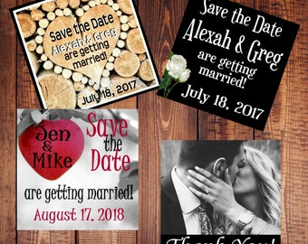 SAMPLE Small Save the Date Magnets - Affordable! SAMPLE Magnet