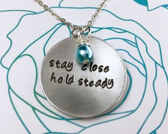 One Direction Niall Horan Necklace, Hand Stamped Song Lyrics Quote, Gift Box