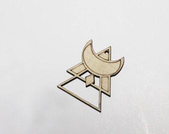 Wood pattern pendant & triangle