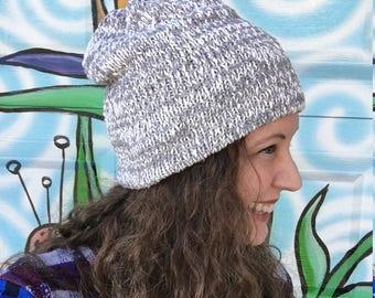 ReSweater Hat - Gray White Cotton