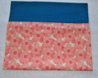 Coral Floral Pillow Case