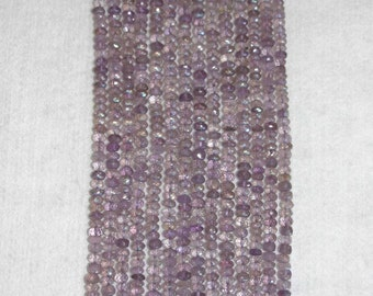 AB, AB Pink Amethyst, Faceted Rondelle, Amethyst Rondelle, Translucent, Natural Stone, Semi Precious, Gemstone Rondelle, Strand, 6-7 mm