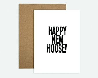 Happy New Hoose!  - Scottish Themed New Home Greeting Card