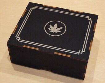 Silver Leaf Stash Box