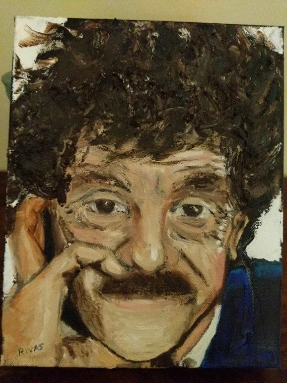 Original oil portrait of Kurt Vonnegut