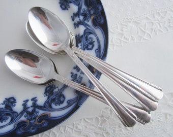 Vintage Wm. Rogers Mfg. CHATHAM Teaspoons Silverplate Set of 6 Tea Spoons ca. 1935