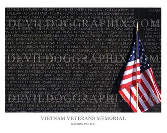 Vietnam Veterans Memorial 8x10