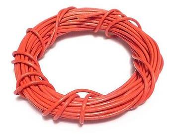 O1.5mm blood orange leather cord (1 M)