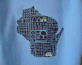 custom state onesie, infant or toddler tshirt, CHOOSE state color size,  wisconsin california texas new york minnesota ohio arizona utah ...