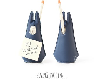 Instructions for Sewing the Rabbit Paperweight / Pen Holder, Diy Pattern, Sewing Pattern & Tutorial, PDF INSTANT DOWNLOAD, Sewing Diy, Desk