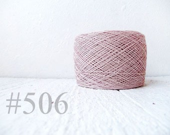 Laceweight Linen yarn - grey pink 506
