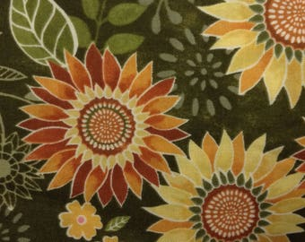 One Yard of Fabric Material - Sunflower Sun