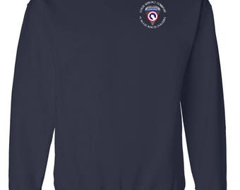 1st Sustainment Command - COSCOM (Airborne) Embroidered Sweatshirt-7619